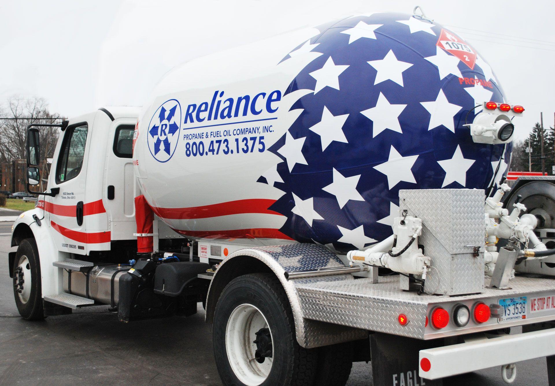 Reliance Energy Propane Fuel Truck