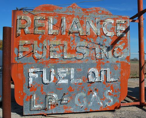 Reliance Fuels, Fuel Oil & LP Gas Sign