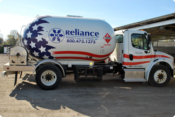 Reliance Energy Residential Propane Delivery Truck