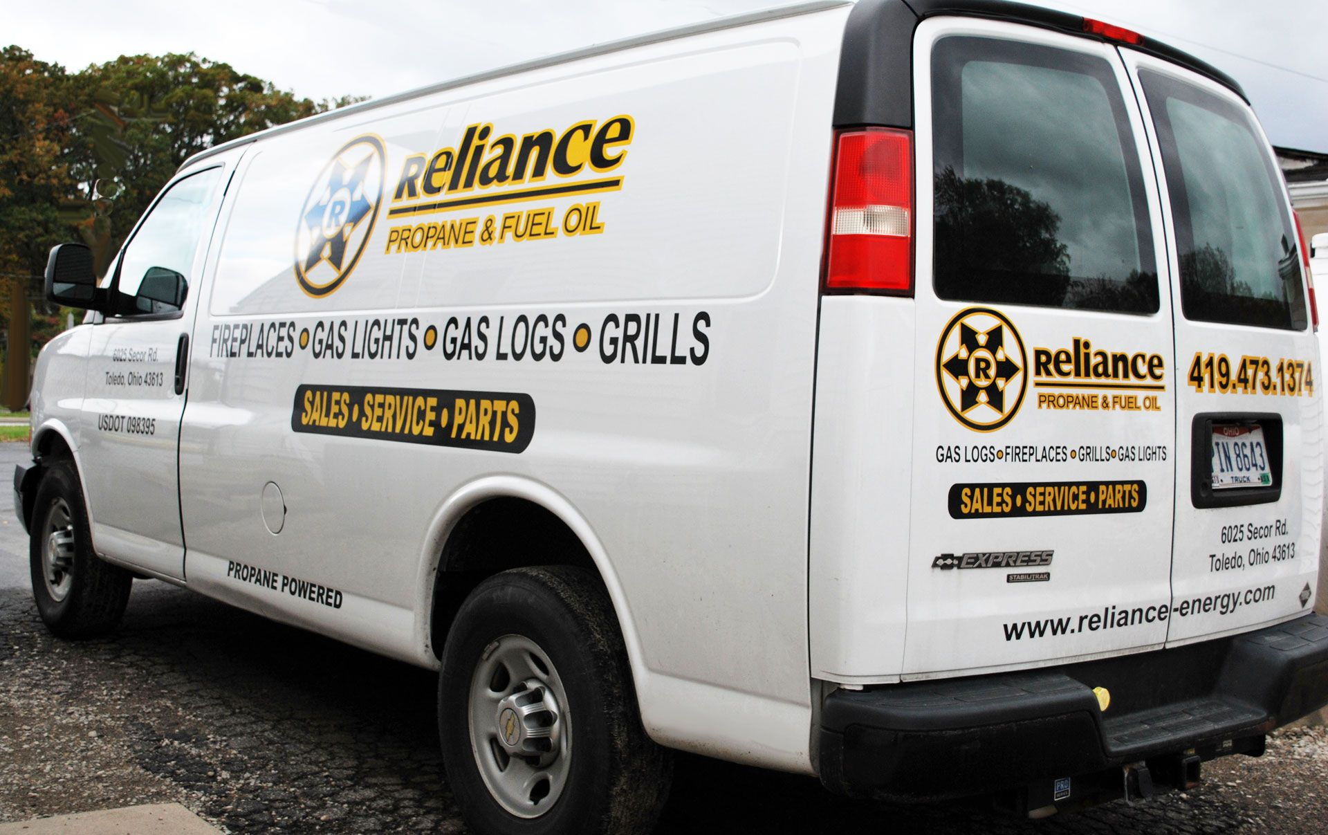 Reliance Energy Service Van
